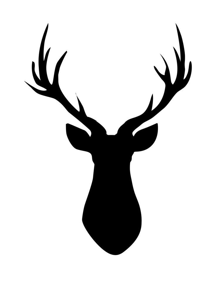 Ever popular FREE Printable Deer Head Silhouette madeinaday clipartall.com