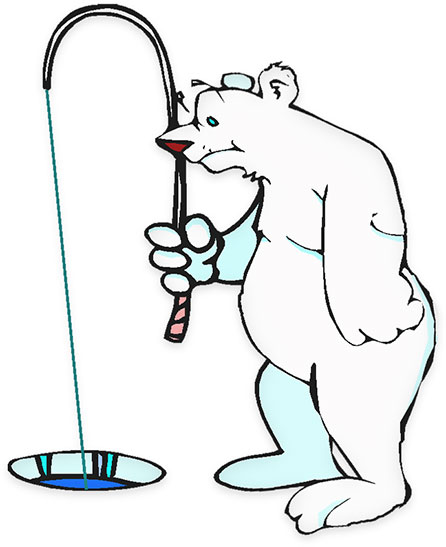 Ever wonder how polar bears catch fish below the ice? Now you know.