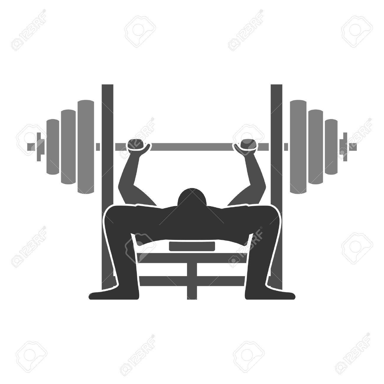 Bench Press Icon Stock Vector - 25118481
