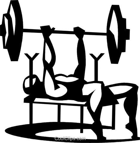 man doing the bench press exercise