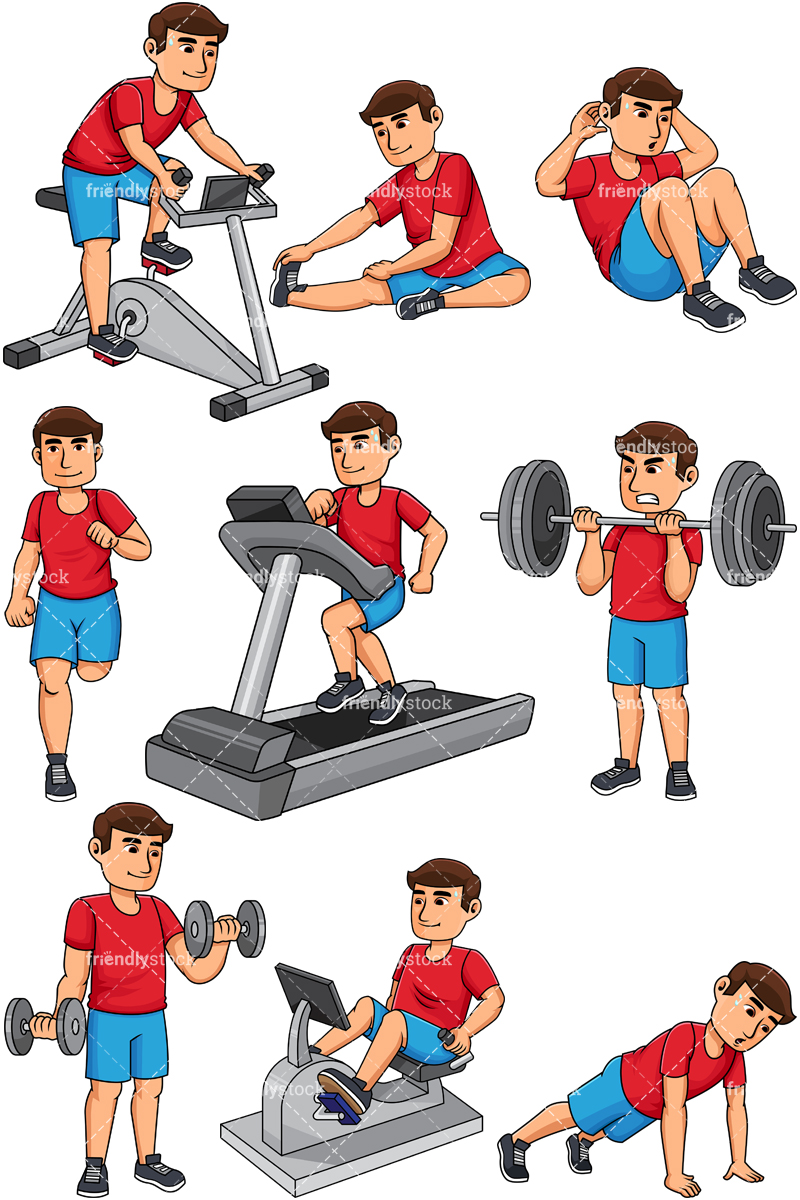 Man working out. PNG - JPG and vector EPS file formats (infinitely scalable)