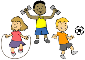 33  Kid Exercise Clip Art