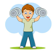 Exercise Clip Art Curl Ups