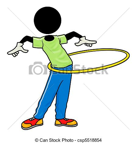... exercise with hula hoop - Silhouette-man healthcare icon ...
