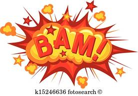 cartoon - bam (Comic bam expl - Explosion Clipart
