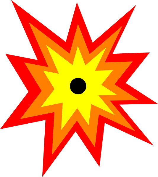 Fire Explosion Clipart #1
