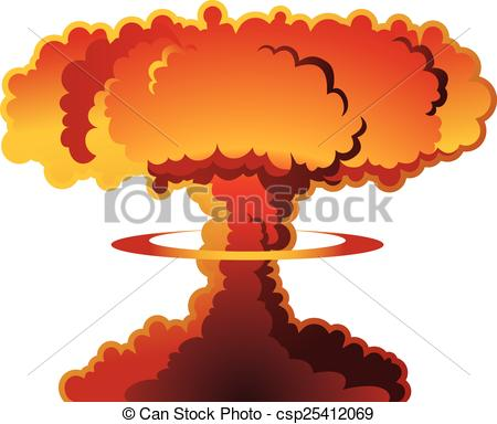 Nuclear explosion mushroom cloud - csp25412069