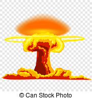 . hdclipartall.com Nuclear explosion with dust. Orange and red illustration on.