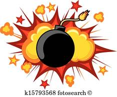old bomb starting to explode - Explosion Clipart
