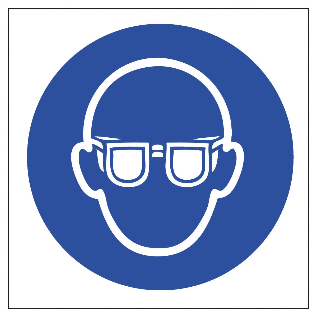 Eye Protection Symbol Safety Sign Mandatory Sign From Bigdug Uk
