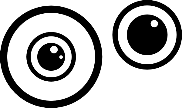 Eyeball eye clipart black and white free images