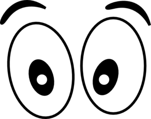 Cartoon Eyes(straight On) Black Clip Art