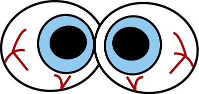 Eye clipart scared #1