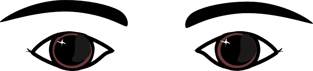 Eye Clip Art Black And White - Eyes Clipart