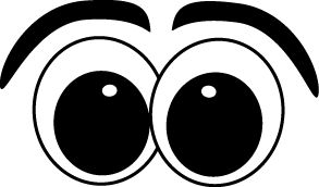 face illustration, cartoon cl - Eyes Clipart