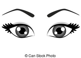 Red Eyes clipart wide eye #3