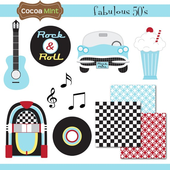 Fabulous 50 S Clip Art By Cocoamint On Etsy