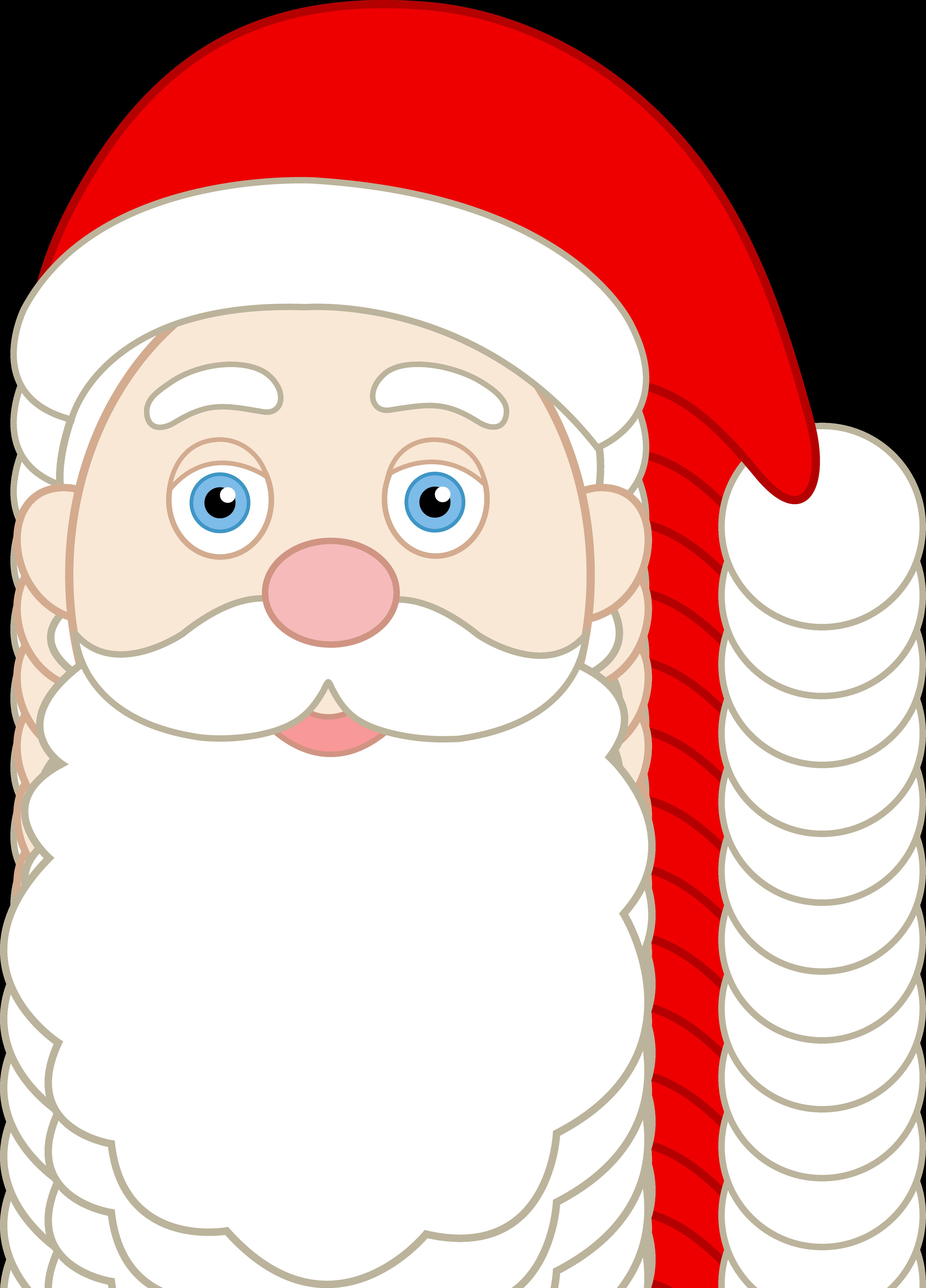 Face of Santa Claus - Free Clip Art