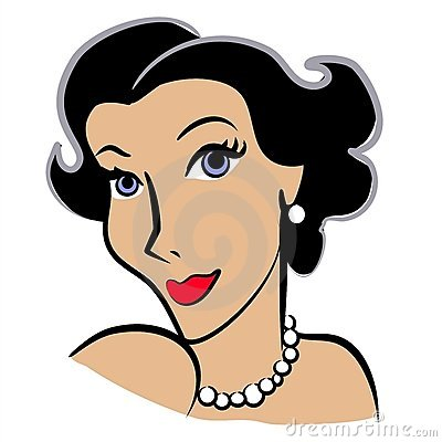 Faces Of Women Clip Art 2 Royalty Free Stock Photography - Image: 2925997