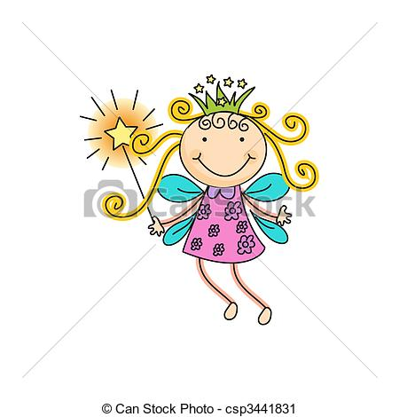 ... fairy - a beautiful vector illustration of a fairy with... fairy Clipartby ...