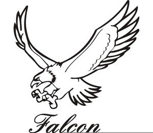 Peregrine Falcon Clipart Image