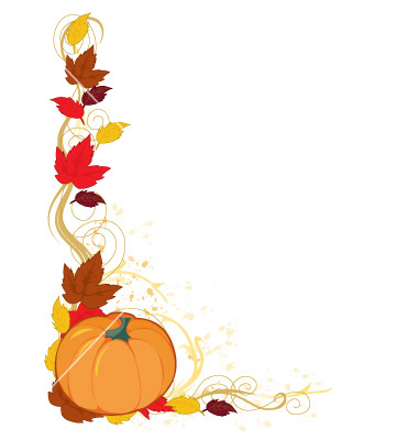 fall leaves border clipart