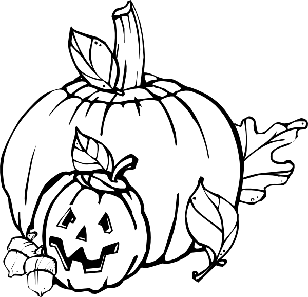 28  Collection of Black And White Fall Pumpkin Clipart | High . hdclipartall.com image