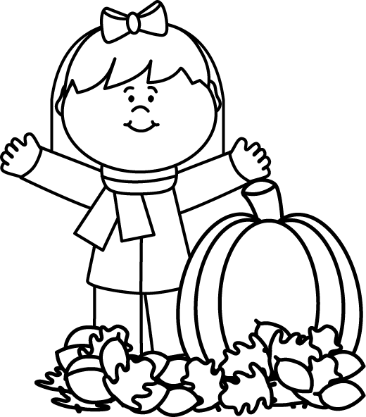 Black And White Autumn Girl | PRESCHOOL | Pinterest | Autumn Girl . Hdclipartall.com  Clipart