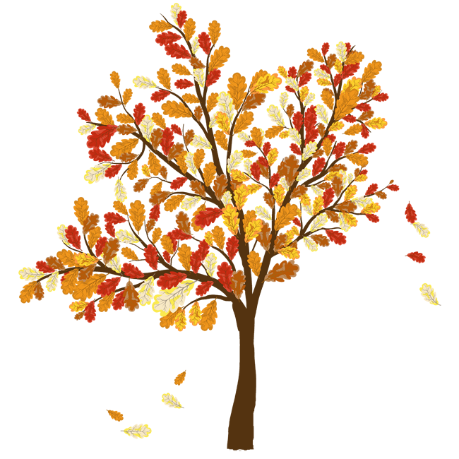 Fall Trees And Leaves Clip Art Picture Of Tree With Leaves