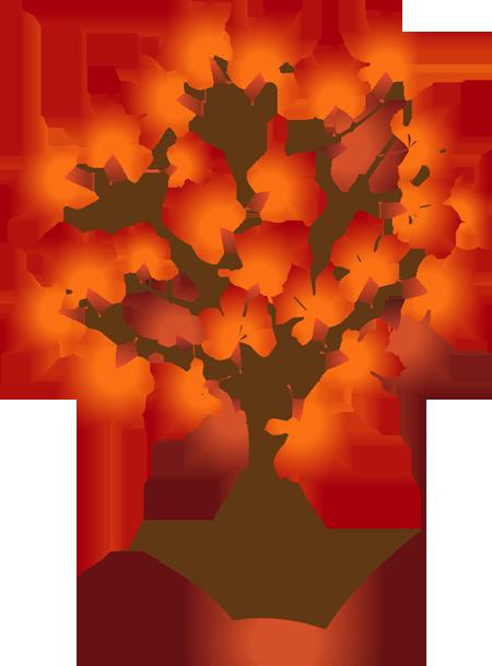 Fall trees clip art - .