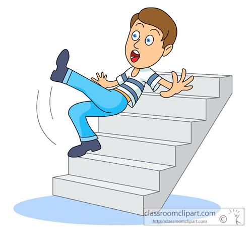 Falling Down Stairs Clipart