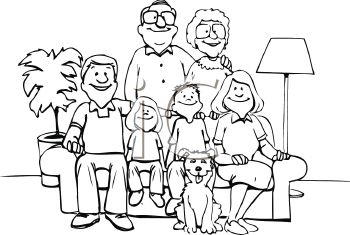 Family Clipart Black And White-hdclipartall.com-Clip Art350
