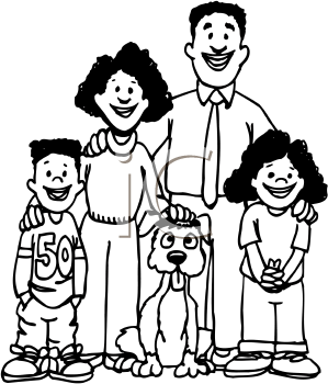338 Family Clipart Black And White Family Clipart Black And White