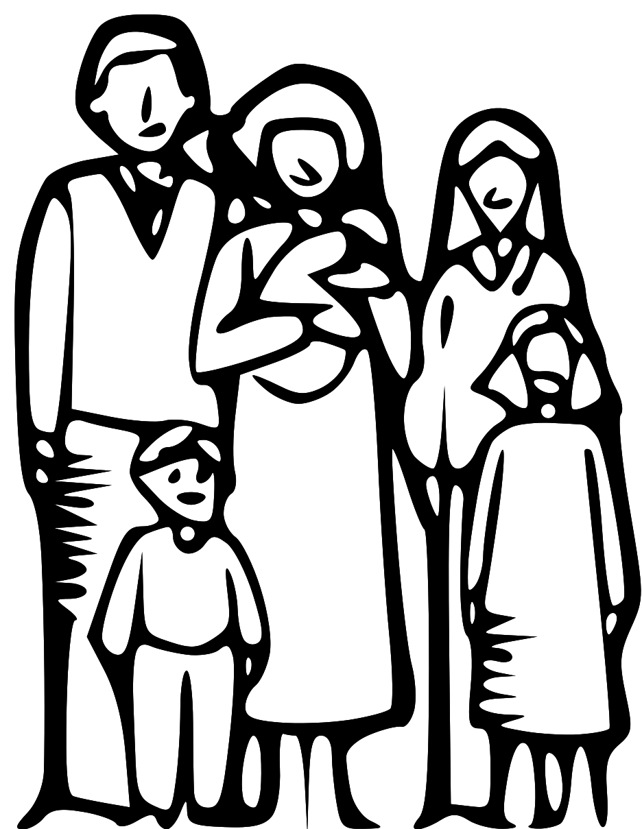 Clipart Black And White Family