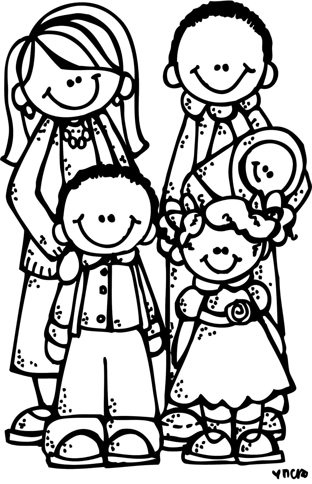 Family black and white family clipart black and white hdclipartall