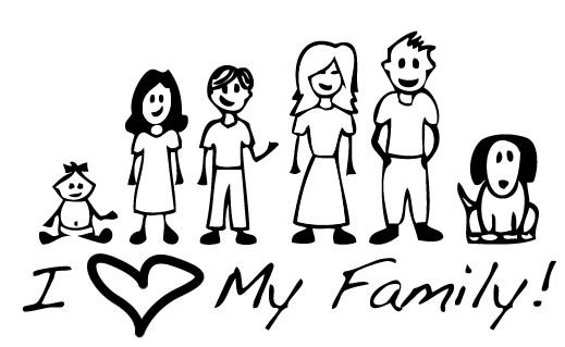 Realistic Family Clipart Black And White 46 About Remodel Classroom Clipart  with Family Clipart Black And White