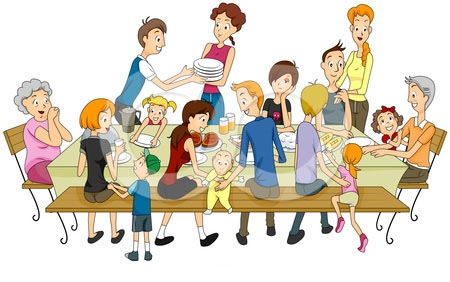 Family Eating Dinner Clipart. Being with family during .