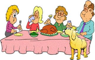 Family Eating Dinner Clipart