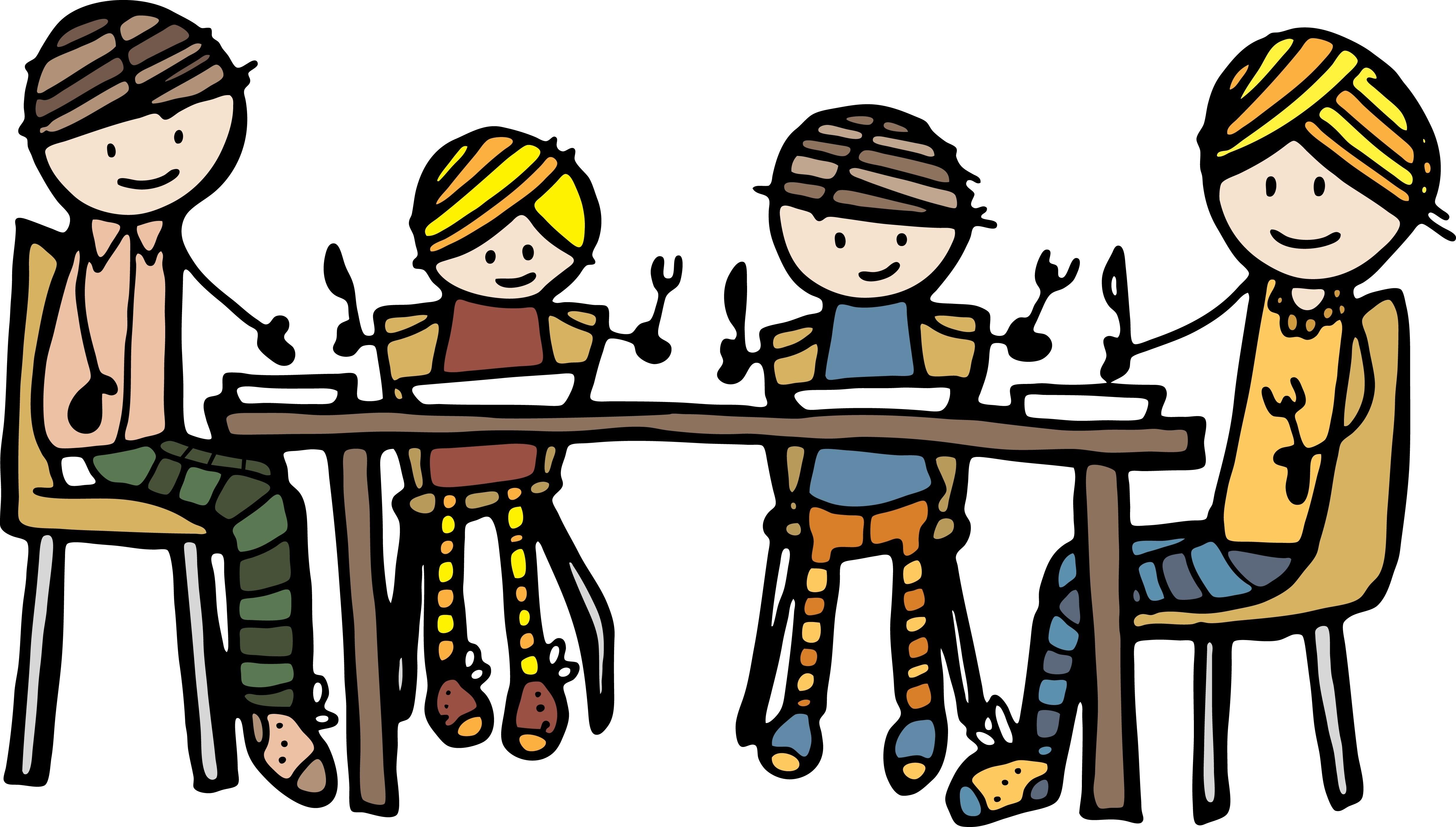 Family Eating Dinner Together .
