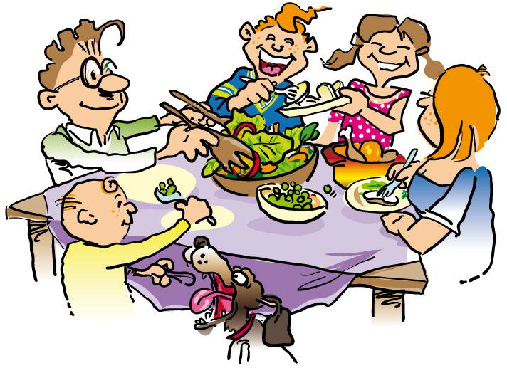 Family Turkey Dinner Clipart Free Clipart Images