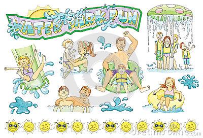 Family Water Park Clip Art