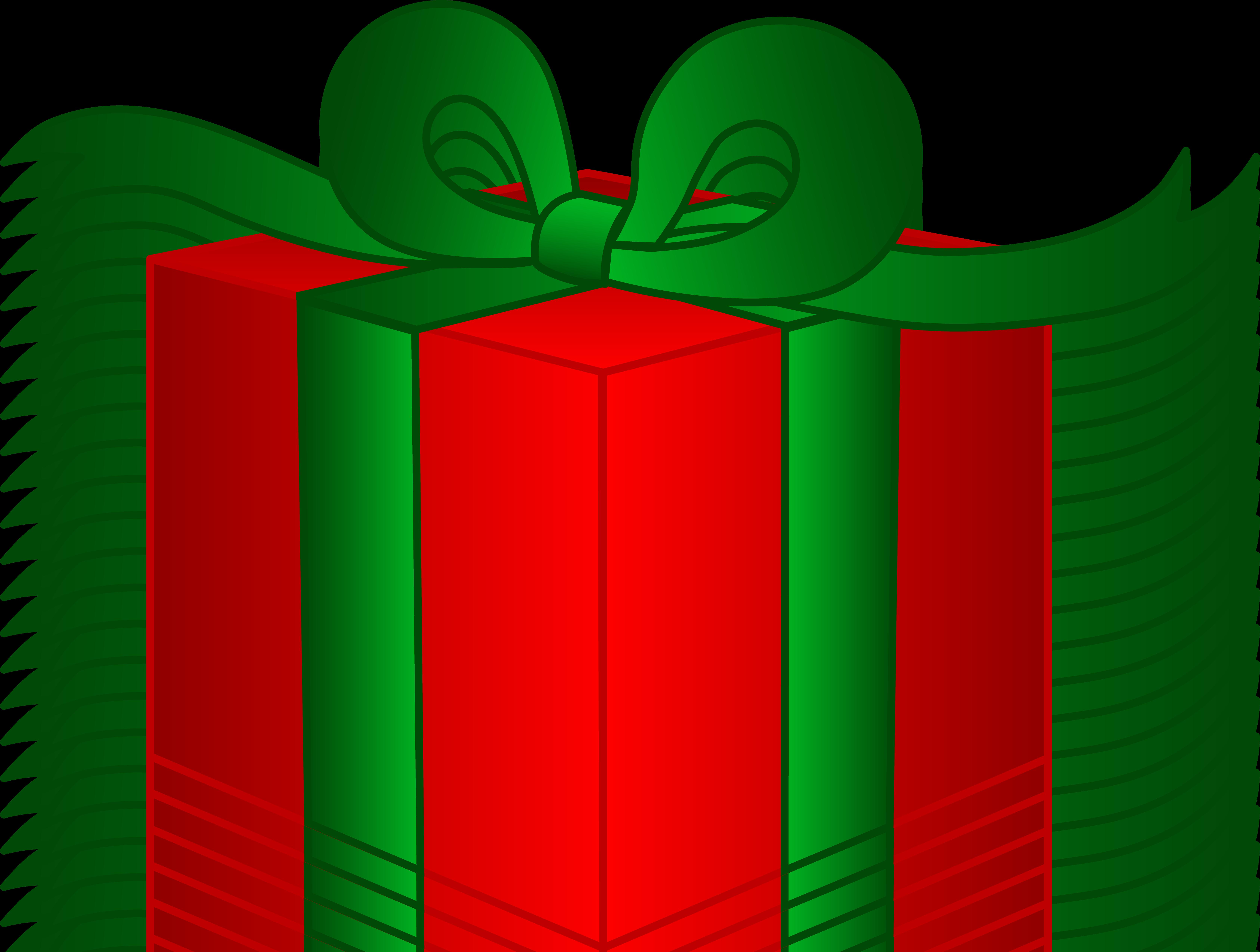 Fancy Christmas Present - Free Clip Art