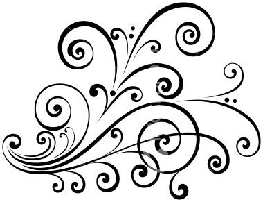 Swirl clipart fancy #1
