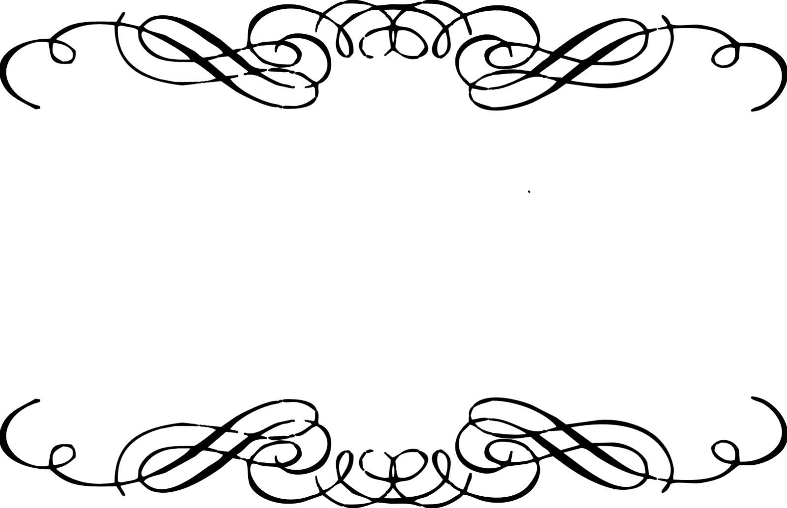 Fancy corner scroll clip art .