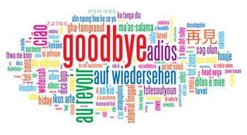 Farewell Clip Art. Farewell Word 2003.