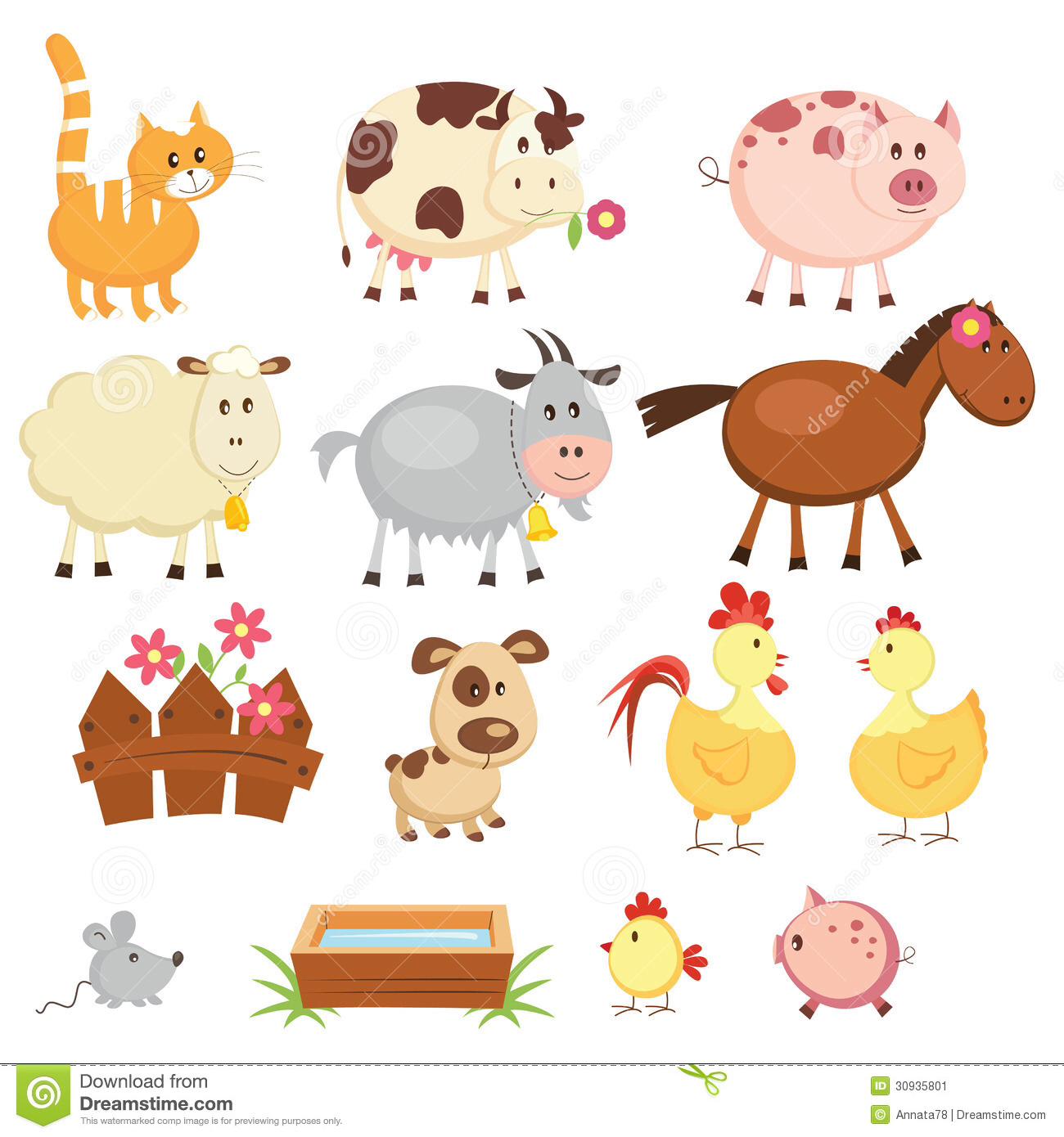 Farm Animals Clip Art Pinterest
