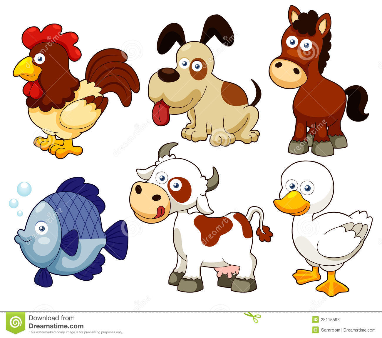 Farm Animals Free Download Clipart