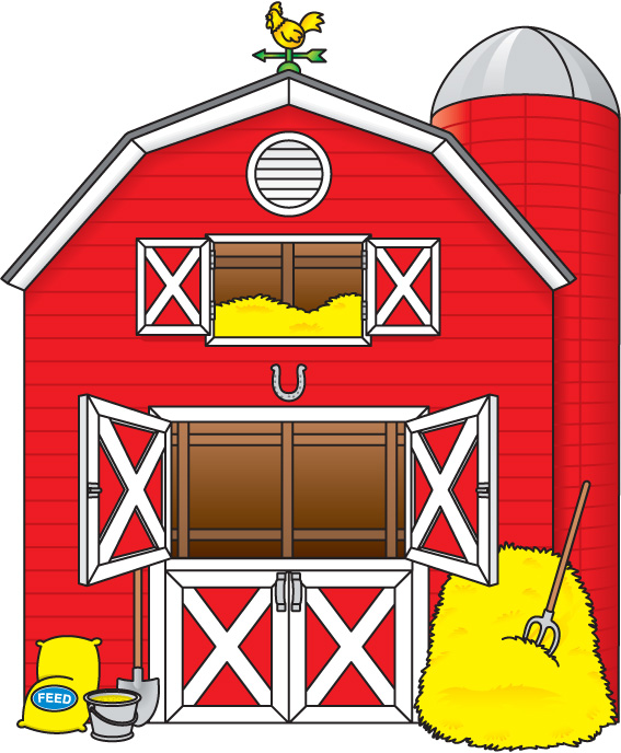 Farm barn clip art clipart .