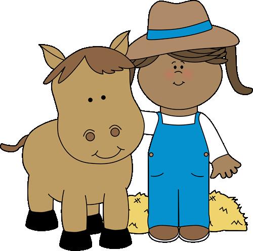 Farm Girl with a Horse