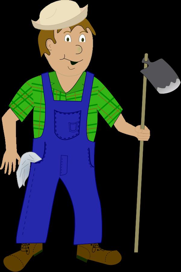 Farmer Clip Art Cartoon Farmer Vector Clipart Png